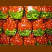 Assortment of big tomatoes & baby cucumbers in jar (720ml)