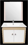 Wash Basin + Cabinet + Mirror