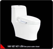 One piece toilet seat with smart electrical  cover