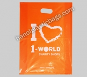 Die cut plastic bag