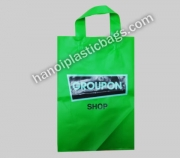Soft loop plastic bag