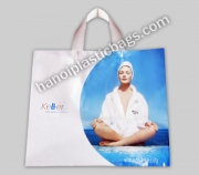 Printed plastic flexiloop bag
